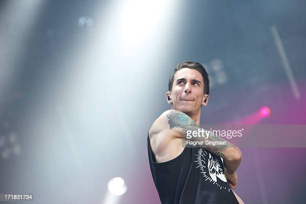 Josh Friend of Modestep performs on stage on Day 3 of Rock The Beach Festival on June 28 2013 in Helsinki Finland