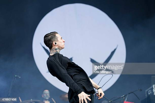 Josh Friend of Modestep performs onstage during day 2 of Download 2015 at Donnington Park on June 12 2015 in Donnington United Kingdom
