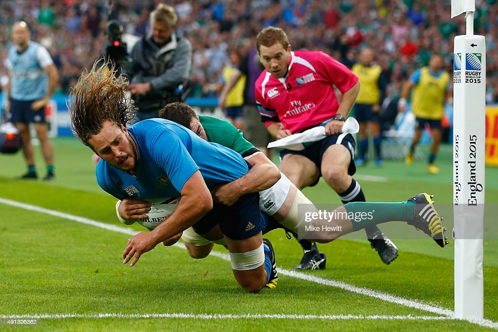 Ireland v Italy - Group D: Rugby World Cup 2015 : Nieuwsfoto's