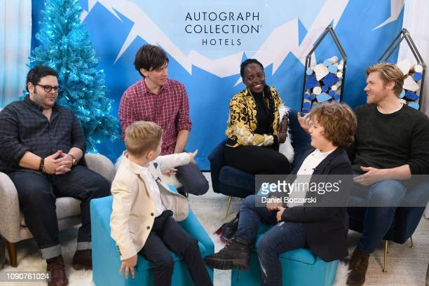 Josh Gad Abe Forsythe Charlie Whitley Lupita Nyong'o Diesel La Torraca and Alexander England attend The Vulture Spot during Sundance Film Festival on...