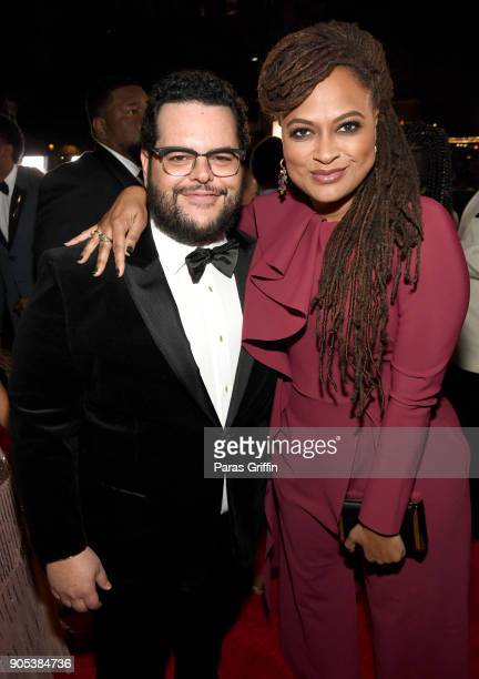 Josh Gad and Ava DuVernay attend the 49th NAACP Image Awards at Pasadena Civic Auditorium on January 15 2018 in Pasadena California