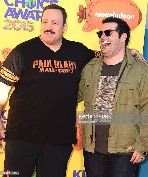 Josh Gad and Kevin James arrives at the Nickelodeon's 28th Annual Kids' Choice Awards at The Forum on March 28 2015 in Inglewood California