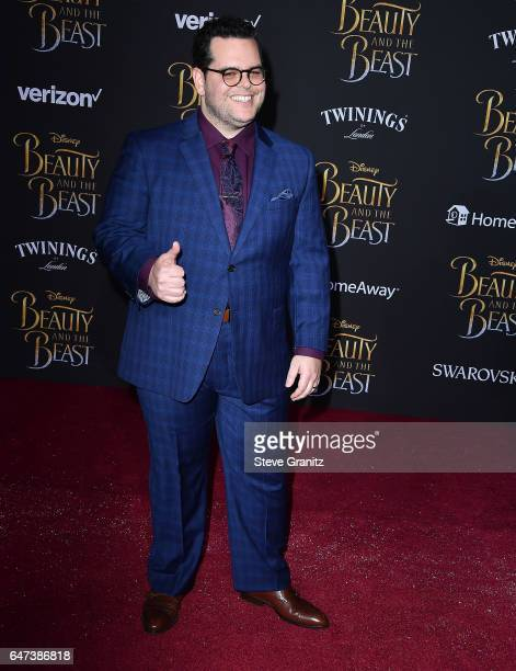 Josh Gad arrives a the Premiere Of Disney's 'Beauty And The Beast' at El Capitan Theatre on March 2 2017 in Los Angeles California