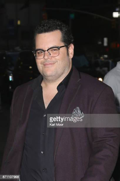 Josh Gad arrives for his appearance on 'The Late Show With Stephen Colbert' at Ed Sullivan Theater on November 6 2017 in New York City