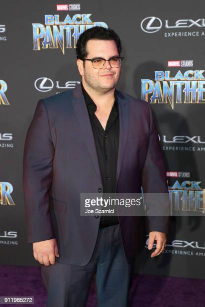 Josh Gad arrives for the World Premiere of Marvel Studios' Black Panther presented by Lexus at Dolby Theatre in Hollywood on January 29th
