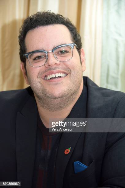 Josh Gad at the Murder on the Orient Express Press Conference at the Claridges Hotel on November 2 2017 in London England