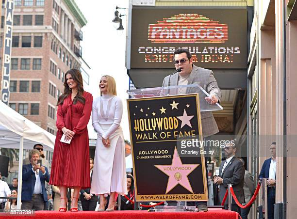 Josh Gad attends the double Walk of Fame ceremony in Hollywood Calif where Kristen Bell and Idina Menzel from Disney's FROZEN 2 were each presented...