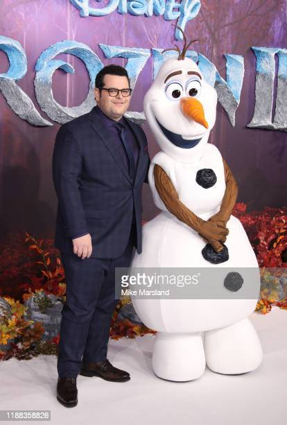 Josh Gad attends the Frozen 2 European premiere at BFI Southbank on November 17 2019 in London England
