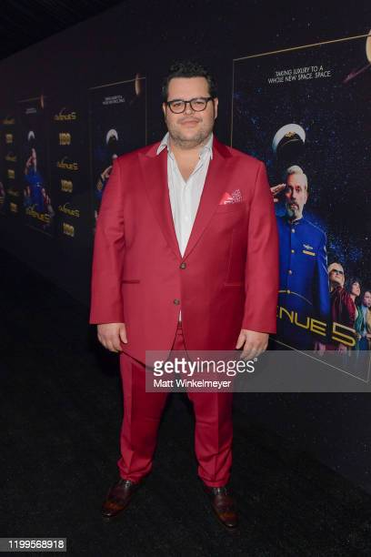 """Josh Gad attends the premiere of HBO's """"Avenue 5"""" at Avalon Theater on January 14, 2020 in Los Angeles, California."""