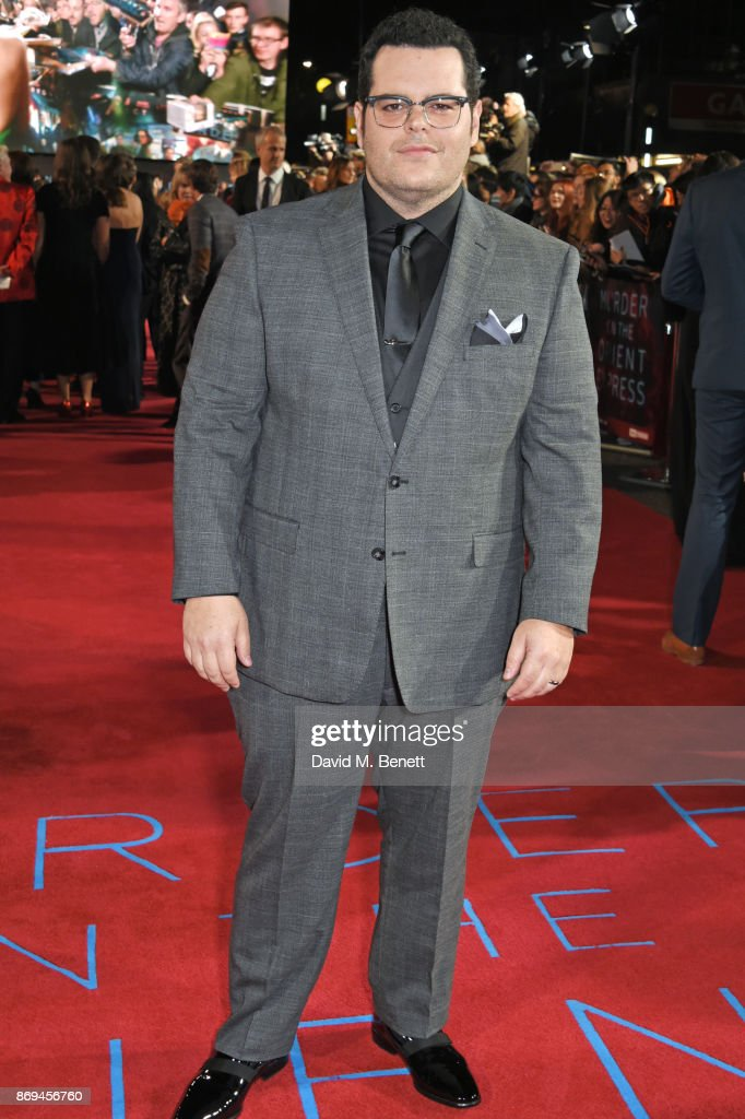 Josh Gad attends the World Premiere of 'Murder On The Orient Express' at The Royal Albert Hall on November 2, 2017 in London, England.