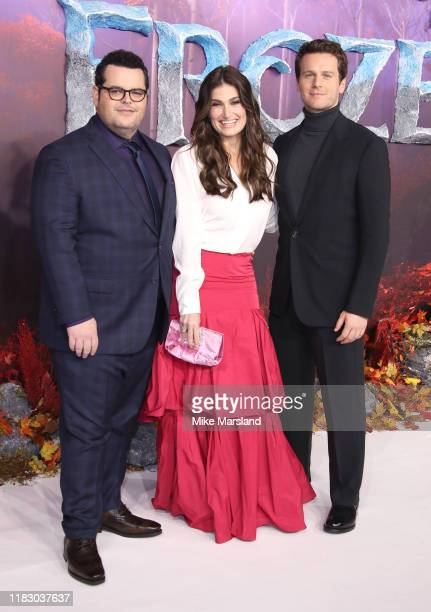 Josh Gad Idina Menzel and Jonathan Groff attend the Frozen 2 European premiere at BFI Southbank on November 17 2019 in London England