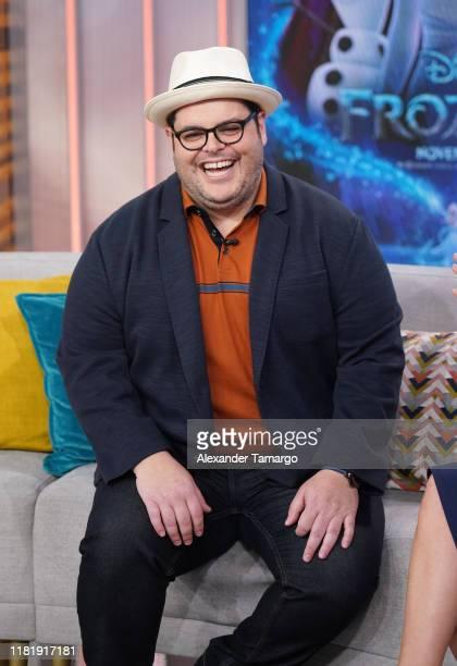Josh Gad is seen on the set of Despierta America at Univision Studios to promote the Disney film Frozen II on November 12 2019 in Miami Florida