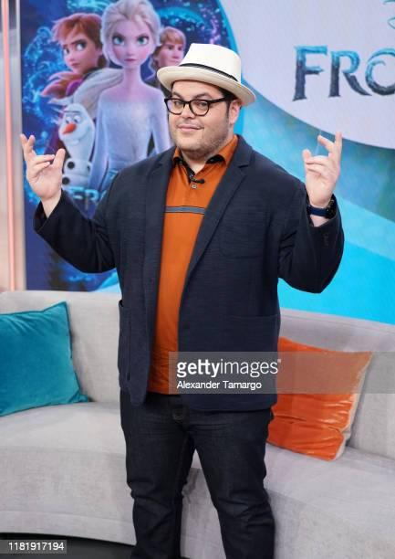"Josh Gad is seen on the set of ""Despierta America"" at Univision Studios to promote the Disney film ""Frozen II"" on November 12, 2019 in Miami, Florida."