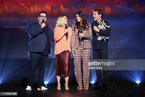 Josh Gad Kristen Bell Idina Menzel and Jonathan Groff of 'Frozen 2' took part today in the Walt Disney Studios presentation at Disney's D23 EXPO 2019...