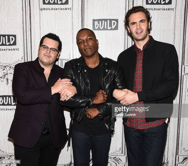 Josh Gad Leslie Odom Jr and Tom Bateman attend the Build Series to discuss the new film 'Murder on The Orient Express' at Build Studio on November 6...
