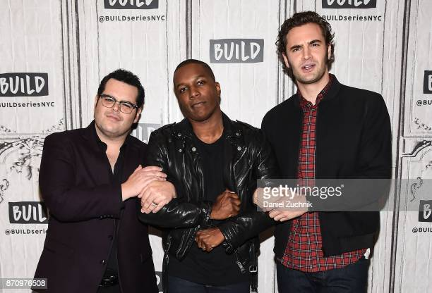 Josh Gad, Leslie Odom Jr. And Tom Bateman attend the Build Series to discuss the new film 'Murder on The Orient Express' at Build Studio on November...