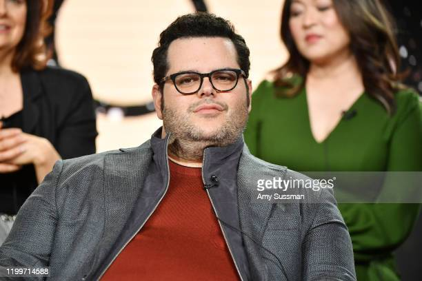 """Josh Gad of """"Avenue 5"""" speak during the HBO segment of the 2020 Winter TCA Press Tour at The Langham Huntington, Pasadena on January 15, 2020 in..."""