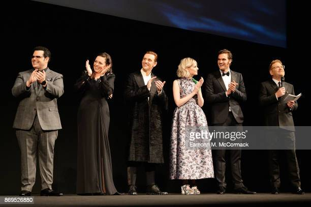 Josh Gad Olivia Coleman Sergei Polunin Lucy Boynton Tom Bateman and Kenneth Branagh attend the 'Murder On The Orient Express' World Premiere held at...