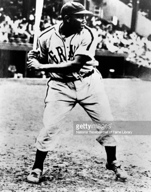 Josh Gibson of the Homestead Grays stands ready at the plate during a season game Josh Gibson played for the Homestead Grays of the Negro Natonal...