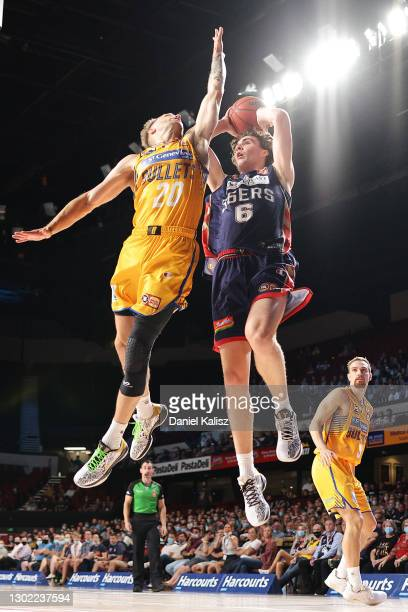 Josh Giddey of the 36ers shoots during the round five NBL match between the Adelaide 36ers and the Brisbane Bullets at Adelaide Entertainment Centre,...
