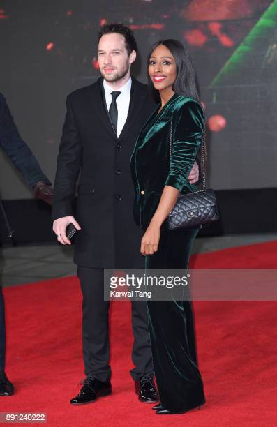Josh Ginnelly and Alexandra Burke attends the European Premiere of 'Star Wars The Last Jedi' at Royal Albert Hall on December 12 2017 in London...