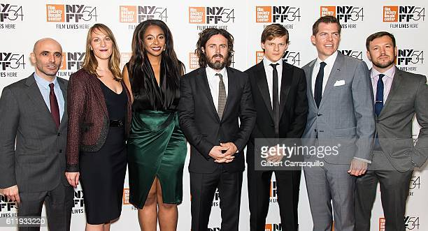 Josh Godfrey Kimberly Steward Lauren Beck Casey Affleck Lucas Hedges Kevin J Walsh and guest attend the 54th New York Film Festival 'Manchester by...