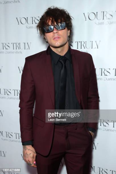"""Josh Golden attends Celebrity Photographer Sam Dameshek's Black Tie Book Release Event For """"Yours Truly"""" at Fellow on July 29, 2021 in Los Angeles,..."""