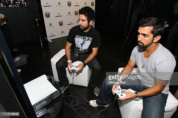 Josh Gomez and James Madio at the 20th Anniversary of Madden NFL Franchise Celebration Hosted by EA Sports at STK/CoCo De Ville in West Hollywood CA...
