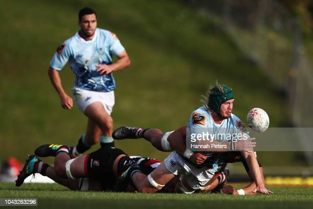 Josh Goodhue of Northland makes a break during the round seven Mitre 10 Cup match between Counties Manakau and Northland at Navigation Homes Stadium...