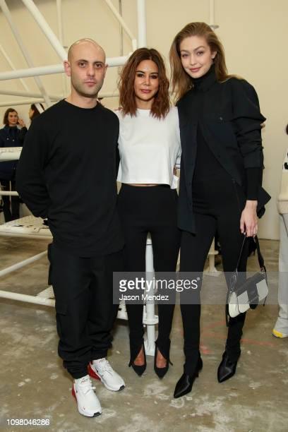 Josh Goot Gigi Hadid Christine Centenera on February 11 2019 in New York City