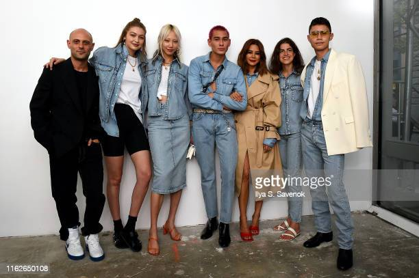 Josh Goot Gigi Hadid Soo Joo Park Evan Mock Christine Centenera Leandra Medine and Ben Perreira attend the WARDROBENYC launch of Release 04 DENIM...
