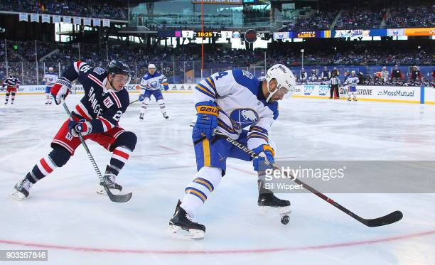 Josh Gorges of the Buffalo Sabres skates against the New York Rangers during the 2018 Bridgestone NHL Winter Classic at Citi Field on January 1 2018...
