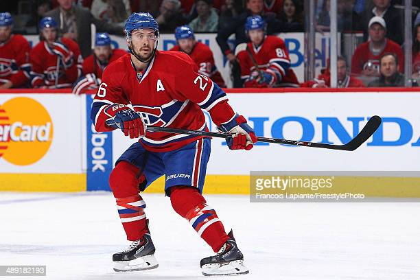 Josh Gorges of the Montreal Canadiens skates against the Boston Bruins in Game Three of the Second Round of the 2014 NHL Stanley Cup Playoffs at the...