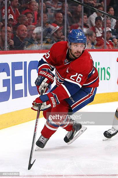 Josh Gorges of the Montreal Canadiens skates against the Boston Bruins in Game Six of the Second Round of the 2014 NHL Stanley Cup Playoffs at the...