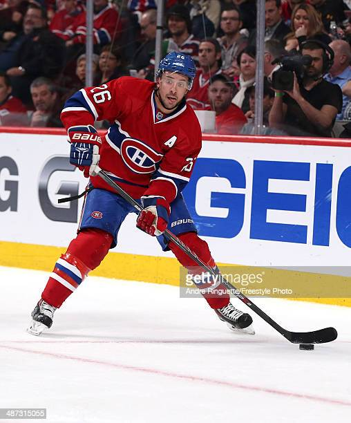 Josh Gorges of the Montreal Canadiens skates against the Tampa Bay Lightning in Game Four of the First Round of the 2014 NHL Stanley Cup Playoffs at...