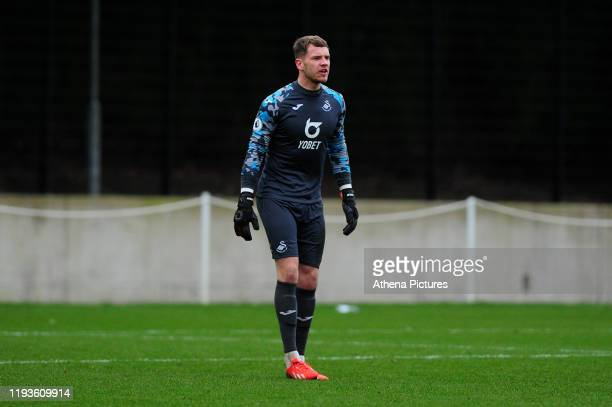 Josh Gould of Swansea City u23 during the Premier League 2 Division Two match between Swansea City u23s and Middlesbrough u23s at Swansea City AFC...