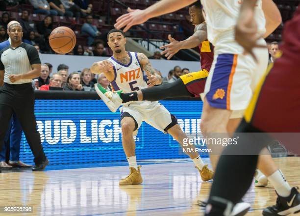 Josh Gray of the Northern Arizona Suns passes the ball against the Canton Charge during the NBA GLeague Showcase on January 12 2018 at the Hershey...