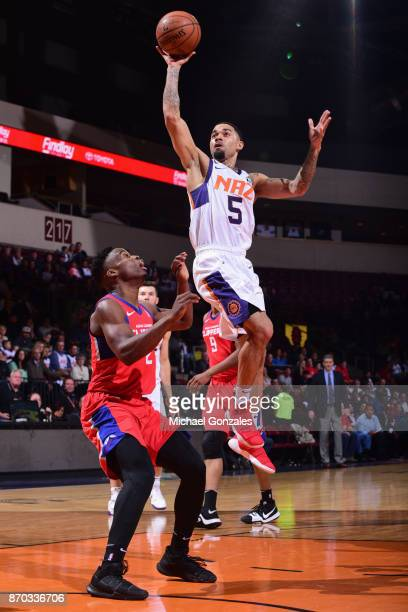 Josh Gray of the Northern Arizona Suns shoots the ball against the Agua Caliente Clippers on November 4 2017 at Prescott Valley Event Center in...