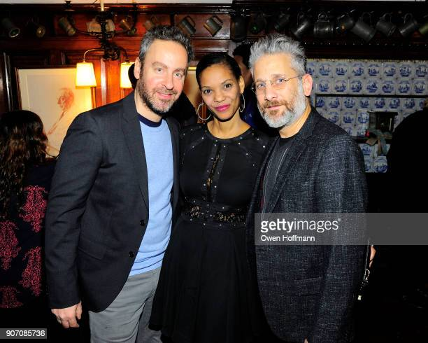 Josh Green Elinyisia Mosha and Michael Sladek attend The Players Hosts East Coast Celebration of the 2018 Producers Guild Nominees at The Players on...