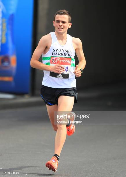 Josh Griffiths of Great Britain competes during the Virgin Money London Marathon on April 23 2017 in London England