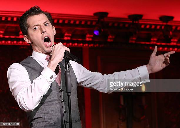 Josh Grisetti performs at the 54 Below Press Preview at 54 Below on August 4, 2015 in New York City.