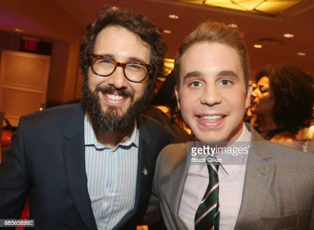 Josh Groban and Ben Platt pose at the 2017 Drama League Awards Luncheon at The Marriott Marquis Times Square on May 19 2017 in New York City
