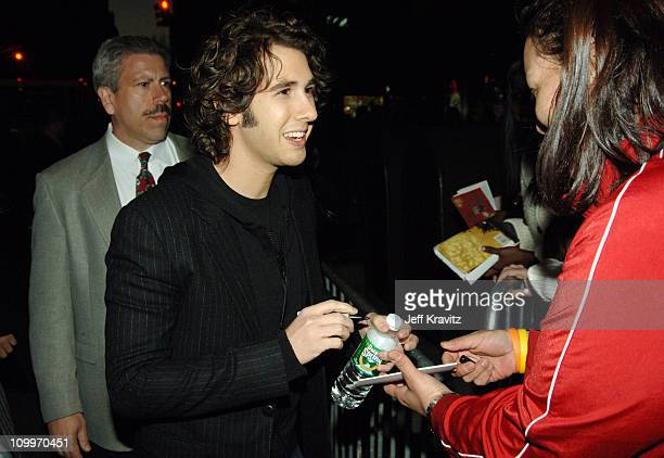 Josh Groban and fans during VH1 Save The Music A Concert To Benefit The VH1 Save The Music Foundation Red Carpet at Beacon Theatre in New York City...