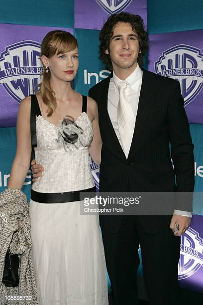 Josh Groban and January Jones during Instyle/Warner Bros Golden Globe Awards Post Party Arrivals at Beverly Hills Hilton in Beverly Hills California...