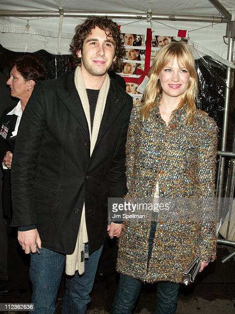 Josh Groban and January Jones during 'Love Actually' New York Premiere at Ziegfeld Theatre in New York City New York United States