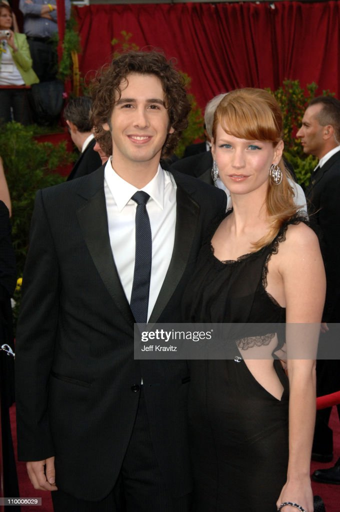 Josh Groban and January Jones during The 77th Annual Academy Awards - Arrivals at Kodak Theatre in Los Angeles, California, United States.