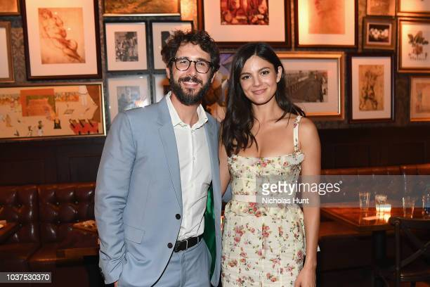 Josh Groban and Monica Barbaro attend the after party for the New York Premiere of Netflix's Original Series The Good Cop at Casa Nonna on September...