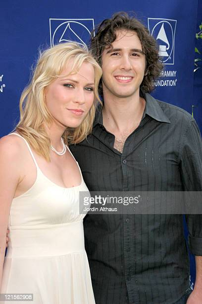 Josh Groban and Natasha Bedingfield during Starry Night Benefit Honoring Los Angeles Mayor Antonio Villaraigosa Arrivals at Villa Casablanca in...