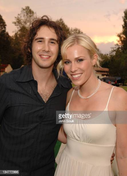 Josh Groban and Natasha Bedingfield during Starry Night Benefit Honoring Los Angeles Mayor Antonio Villaraigosa Inside at Villa Casablanca in Malibu...