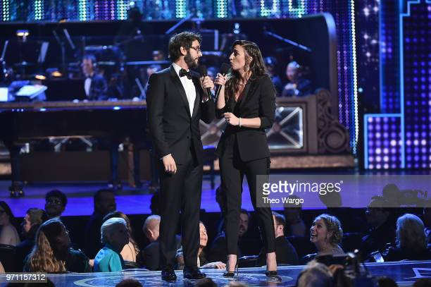 Josh Groban and Sara Bareilles perform onstage during the 72nd Annual Tony Awards at Radio City Music Hall on June 10 2018 in New York City